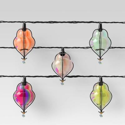10ct incandescent mini teardrop outdoor string lights multi colored opalhouse
