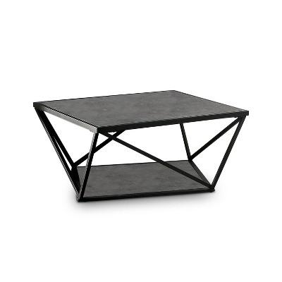 square caroline coffee table black mibasics
