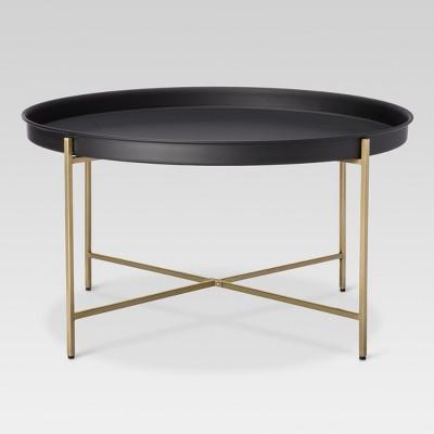 brass tray coffee table threshold