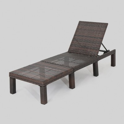 jamaica wicker patio chaise lounge brown christopher knight home