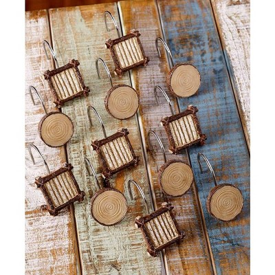 wooden shower curtain rings target