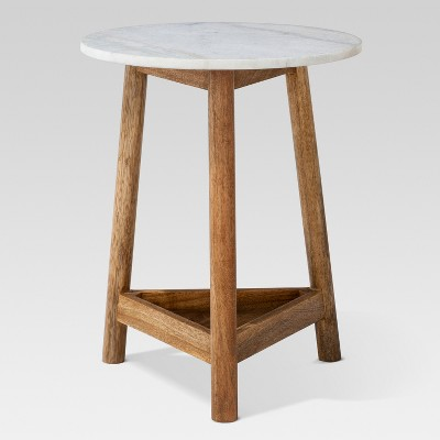 lanham marble top side table threshold