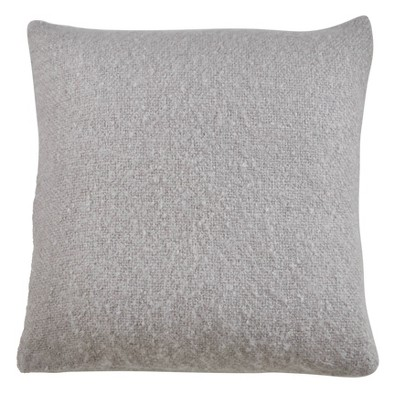 22 x22 oversize faux mohair throw pillow cover gray saro lifestyle
