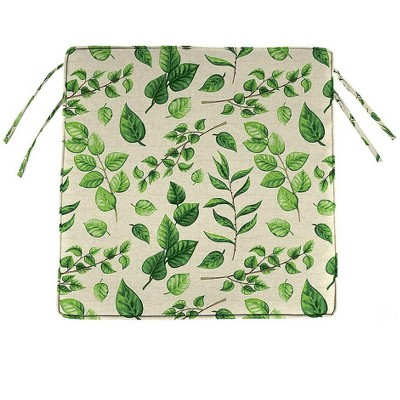 plow hearth polyester classic outdoor chair cushions with ties 18 5 x 16 5 x 3 leaves
