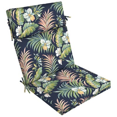 simone tropical outdoor dining chair cushion blue arden selections