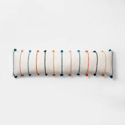 lumbar stripe tassel bed lumbar pillow cream opalhouse