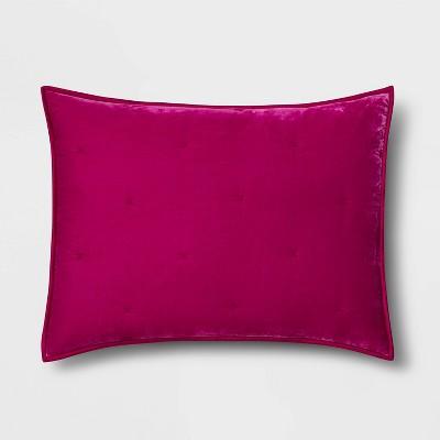 king velvet tufted stitch sham hot pink opalhouse