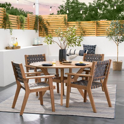 bluffdale strapping chair patio dining