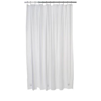 three magnets peva shower liner white bath bliss