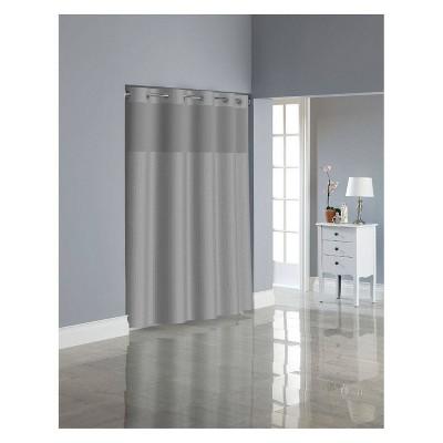 herringbone shower curtain with liner gray hookless
