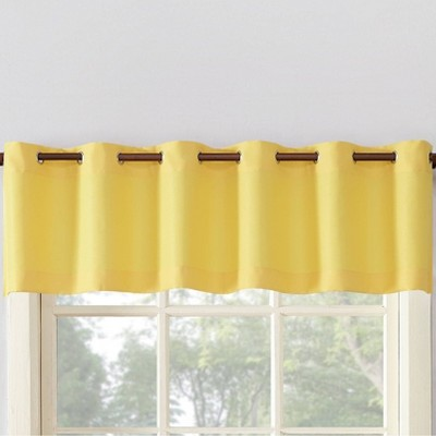 56 x14 montego casual textured grommet top kitchen curtain valance yellow no 918