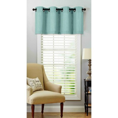 regal home collections oversized grommet top window valance 50 in w x 18 in l aqua