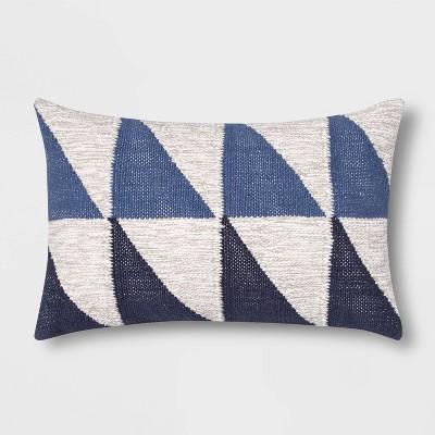 color blocked geometric lumbar throw pillow blue project 62