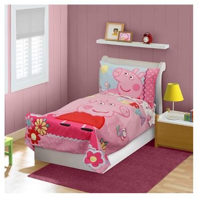 Peppa Pig 4 Pc Toddler Bed Set Pink Target