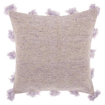 life styles tassel border square throw pillow purple mina victory