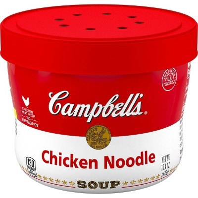 campbell s chicken noodle soup microwaveable bowl 15 4oz