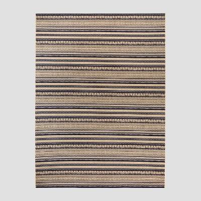 7 x 10 lake stripe outdoor rug navy threshold