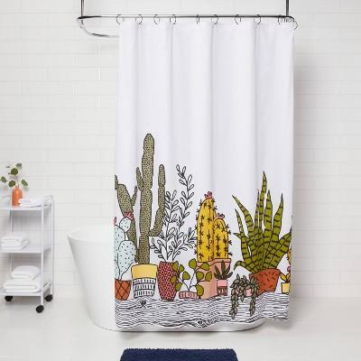 green shower curtains target
