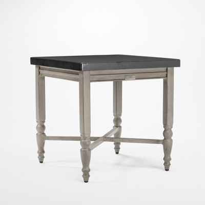 saylor square aluminum top outdoor side table blue oak outdoor