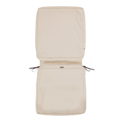 44 x 20 x 3 montlake water resistant patio chair cushion cover antique beige classic accessories