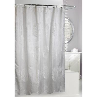 victoria shower curtain white silver moda at home