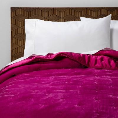 king velvet tufted stitch quilt hot pink opalhouse