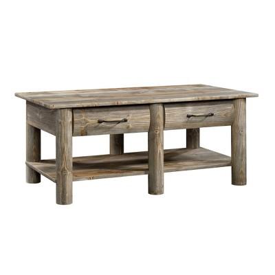 boone mountain coffee table rustic cedar sauder