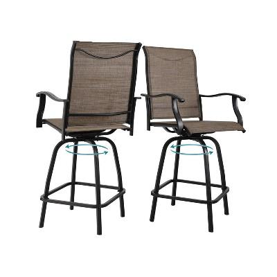 2pc outdoor swivel bar height stools captiva designs