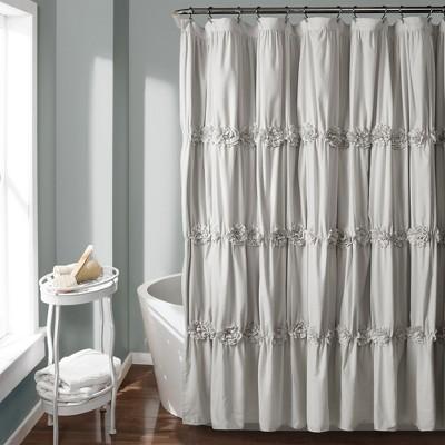 darla texture shower curtain light gray lush decor