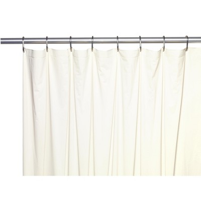 carnation home fashions 78 extra long 5 gauge vinyl shower liner with metal grommets 70 x 78 bone