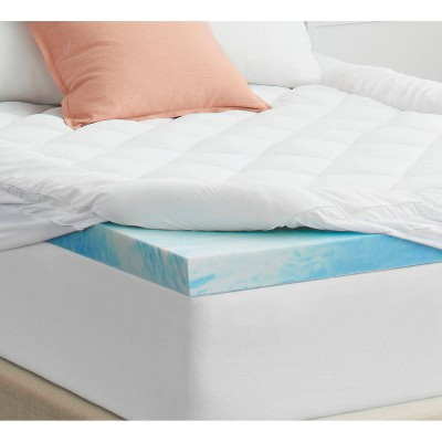 sealy queen sealychill 4 memory foam mattress topper with cover