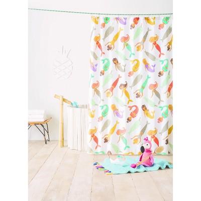 mermaid shower curtain gray marble pillowfort