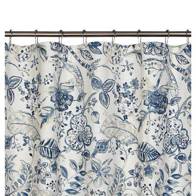 blue brown shower curtain target