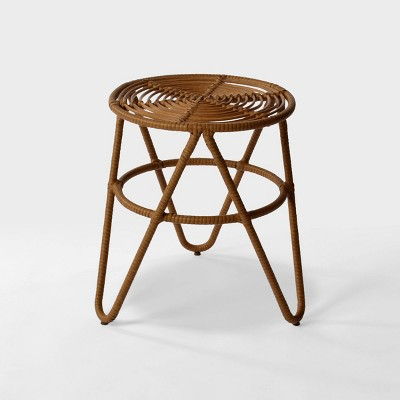 sydney natural resin wicker patio side table natural opalhouse