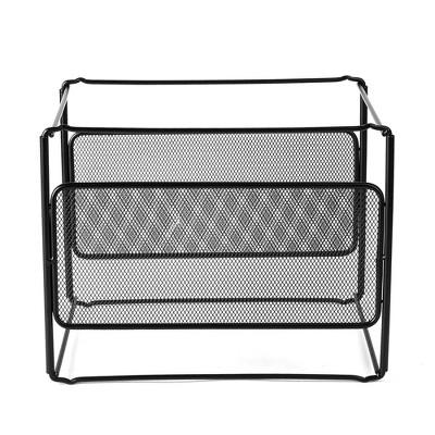 mind reader metal mesh hanging file organizer black