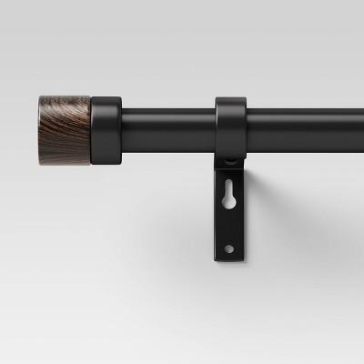36 66 walnut wood cap curtain rod black project 62