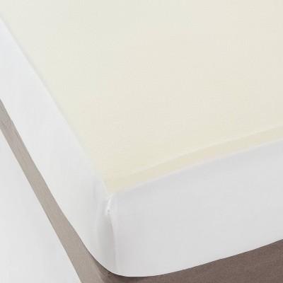 twin 1 5 foam mattress topper white made by design