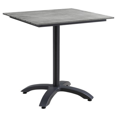 maine 28 square outdoor patio dining table brown gray modway