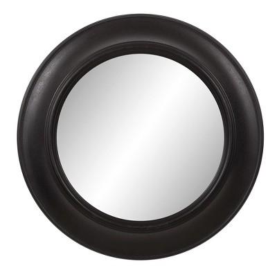 24 x24 rustic round in distressed black decorative wall mirror black patton wall decor