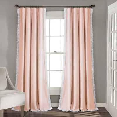 108 x54 rosalie rod pocket light filtering window curtain panels blush pink lush decor