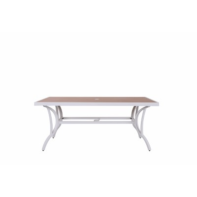6 rectangle patio dining table with umbrella hole nuu garden