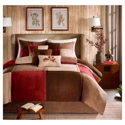 warren 7 piece microsuede comforter set red queen
