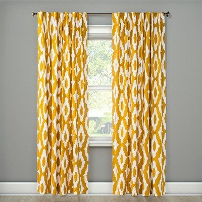 63 x54 light filtering curtain panel summer yellow project 62