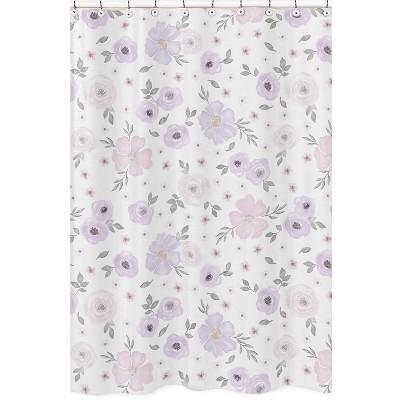 lavendar floral shower curtain sweet jojo designs