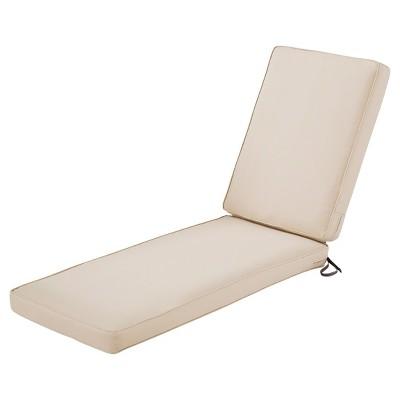 montlake fadesafe patio chaise lounge cushion set antique beige classic accessories