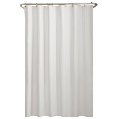 water repellant fabric shower liner white zenna home