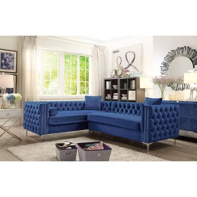 susan left facing sectional sofa navy chic home design