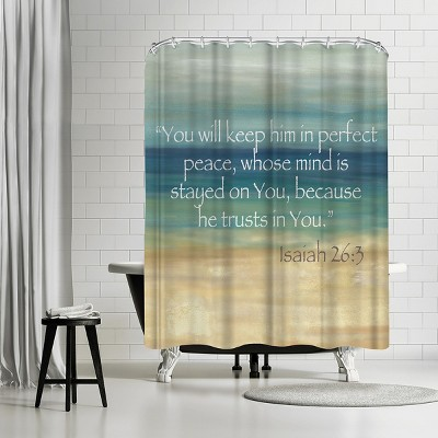 americanflat navy blue horizons scripture i by cynthia coulter 71 x 74 shower curtain