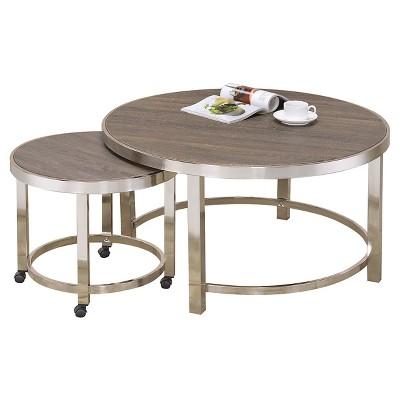 nesting coffee tables walnut acme furniture