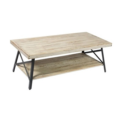 emerald home chandler 48 inch long rustic decor indoor home open storage coffee cocktail table whitewash